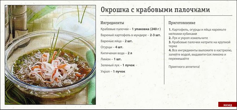 Все рецепты окрошки