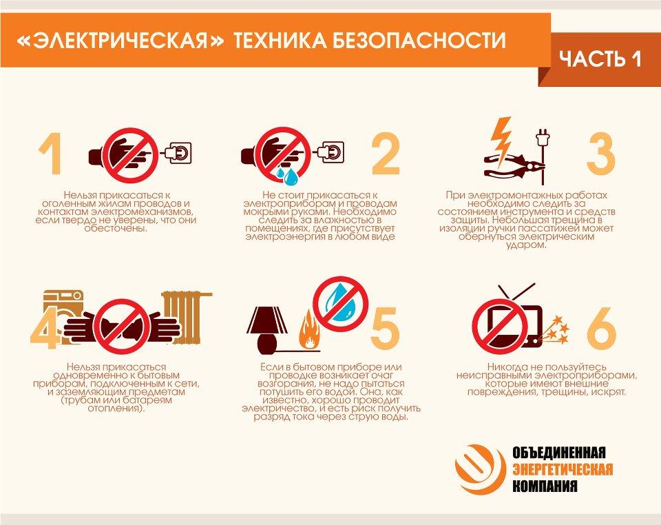 Инструкция по правилам тб при работе с приборами
